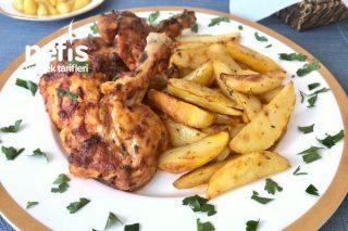 Izgara Tadında Tavuk Pirzola Ve Baharatlı Patates Tarifi