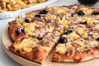 Ton Balıklı Pizza (Hamuru Yumuşacık) Tarifi