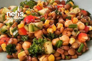 Yeşil Mercimekli Nohutlu Salata Tarifi