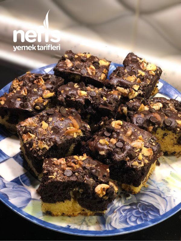 Cevizli Damla Çikolatalı Kek