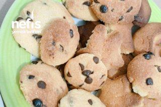 Damla Çikolatalı Kurabiye İçi Yumuşak Dışı Çıtır Chewy Cookie Tarifi