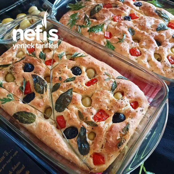 Foccacia Ekmeği (Zeytinyağlı Ekmek)