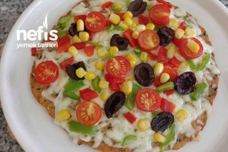 Yulaf Tabanlı Pizza Tarifi