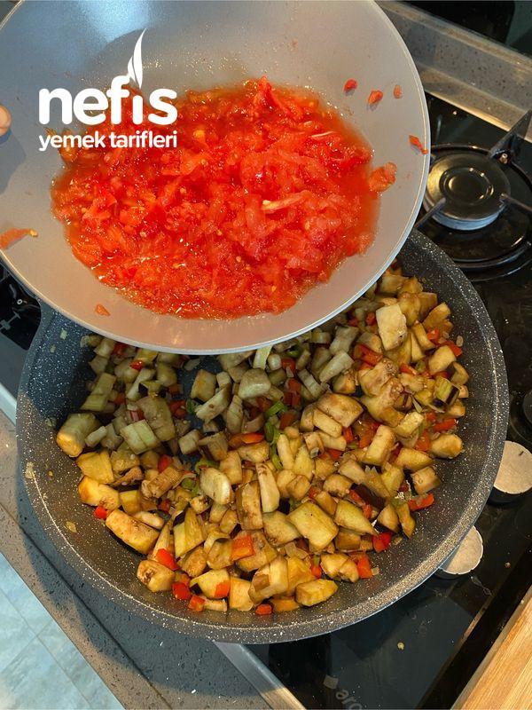 Milföy Çanağında Etli Patlıcan