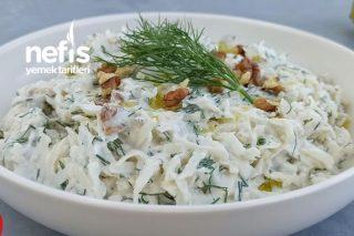 Kereviz Salatası Nasıl Yapılır Doyurucu Cevizli Yoğurtlu Salata Tarifi (Videolu)