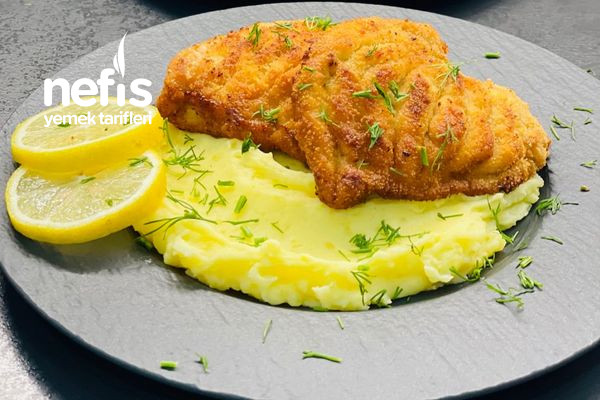 Patates Püresi Yatağında Schnitzel