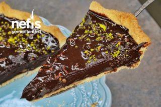 Bomba Lezzetiyle Çikolatalı Cevizli Tart (videolu) Tarifi