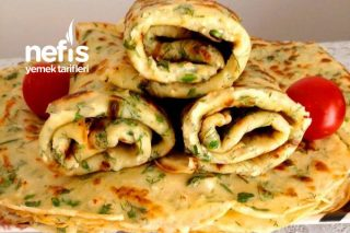 Kahvaltıya Otlu Lor Peynirli (Krep) Tarifi