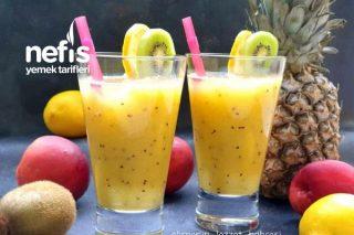 Tropikal Meyveli Yaz İçeceği (Videolu) Tarifi