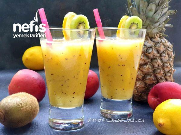 Tropikal Meyveli Yaz İçeceği (Videolu)