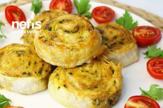 Kremalı Patatesli Ispanaklı Rulo Börek Tarifi