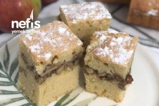 Kurabiye Tadında Arası Elmalı Kek Tarifi