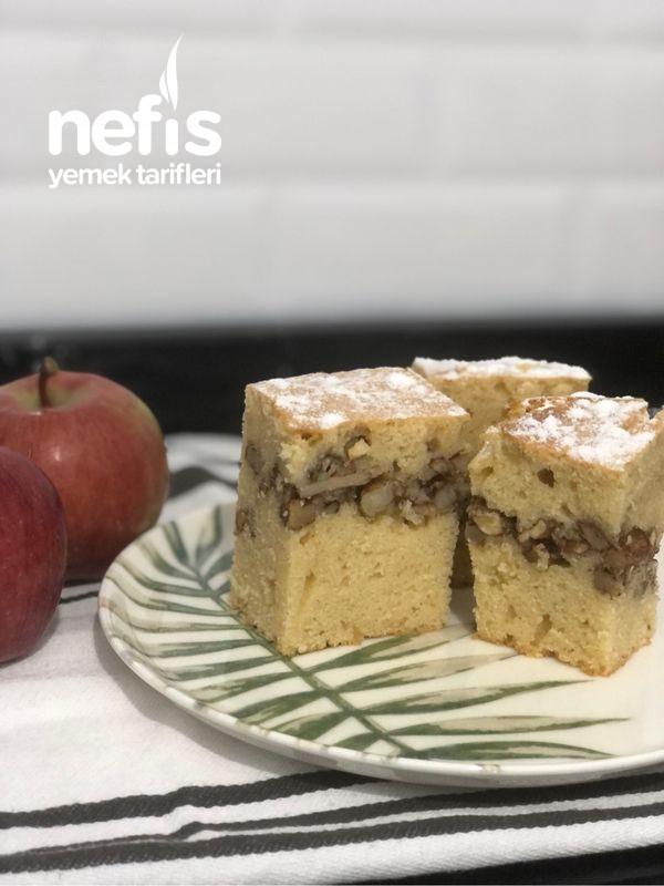 Kurabiye Tadında Arası Elmalı Kek