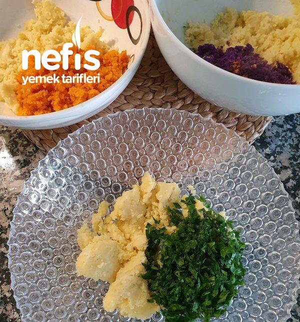 İkramlık Renkli Patates Topları