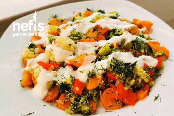 Pratik Soslu Sonbahar Salatası