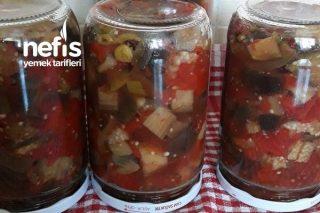 Kavanozda Kışlık Patlıcan Yemeği(Çok Pıratik) Tarifi