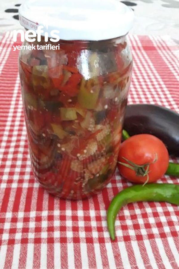 Kavanozda Kışlık Patlıcan Yemeği(Çok Pıratik)
