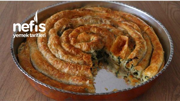 Oklava Kullanmadan Ispanaklı Börek