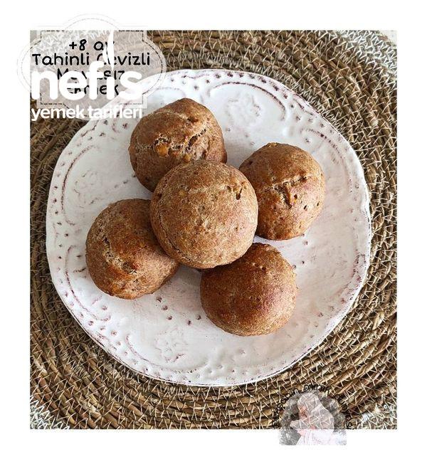 Mayasız Cevizli Tahinli Bebek Ekmeği