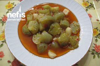 Zeytinyağlı Bulgurlu Yeşil Domates Yemeği Tarifi