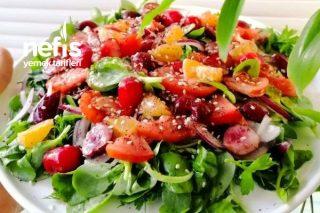 Meyveli Semizotu Salatası Tarifi