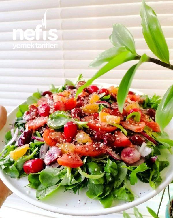 Meyveli Semizotu Salatası