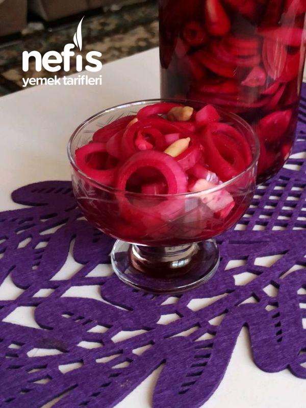 Pancarlı Kırmızı Soğan Turşusu (Buda Benden Olsun Bir Günde Hazır)