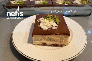 Kedidilli Pasta Muhallebili Tepsi Pastası Tarifi