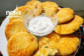 Kahvaltılık Dolgulu Patates Bazlaması (10 Dakikada Bazlamadan Güzel) Tarifi