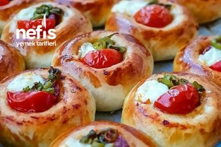 Pastane Usulü Mini Puf Pizzalar Tarifi