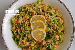 Ekşili Nohutlu Bulgur Salatası Tarifi