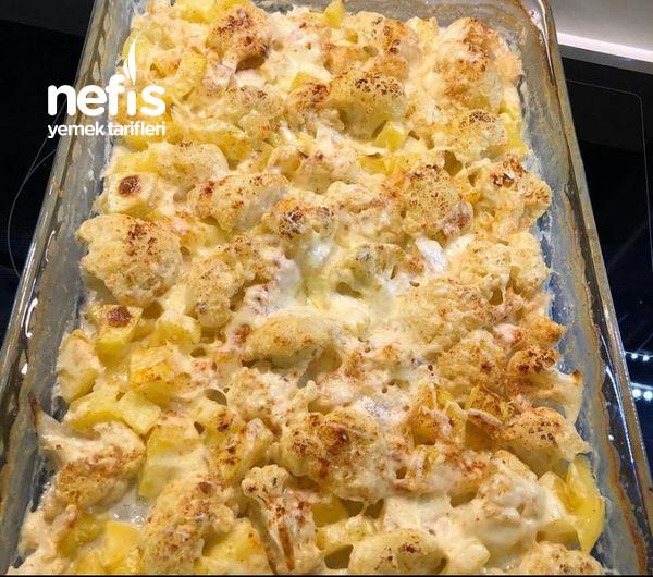 Fırında Kremalı Karnabahar Patates