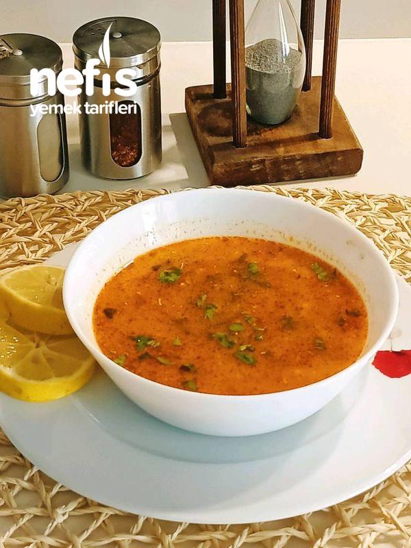 Kıymalı Pirinçli Terbiyeli Çorba