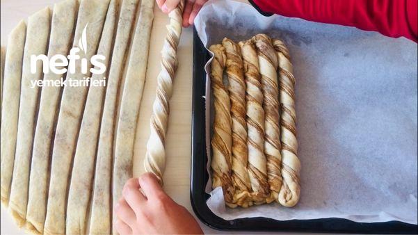 Tel Tel Ayrılan Haşhaşlı Burma Çöreği (Videolu)