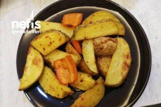 Fırında Zeytinyağlı Kabuklu Patates Tarifi