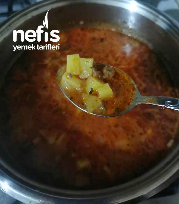 Kıymalı Patatesli Lepe Çorbası