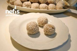 Bisküvi Topları Tarifi (İncirli Bisküvi Topları Nasıl Yapılır) Videolu