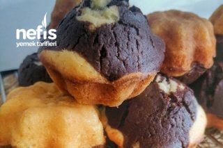 İki Renkli Yumoş Muffin Tarifi