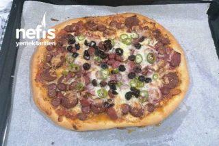 El Yapımı Pizza (Karışık Ve Peynirli Pizza) Tarifi