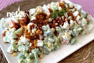 Brokoli-Karnabahar Yoğurtlusu Tarifi