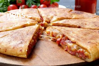 El Yapımı Kekik Ve Sucuklu Tava Ekmeği (Videolu) Tarifi