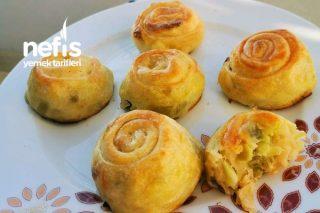 Pırasalı Lokmalık Gül Böreği (Mayasız Ve Çıtır) Tarifi