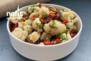 Kuru Domatesli Karnabahar Salatası Tarifi