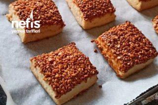 Susamlı Pastane Kurabiyesi (Videolu) Tarifi