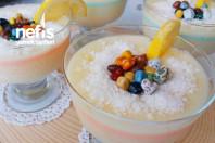 Limonlu Dondurma Tadında Sütlü Tatlı ( Pratik ve Çok lezzetli )