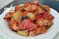 Fırında Soslu Sebzeli Tavuk Kebabı
