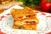 Pizza Tadında Kolay Kahvaltılık Börek Tarifi (videolu)
