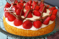 Kızıma Doğum Günü İçin Çilekli Pasta -4