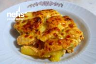 Fırında Kremalı Patatesli Tavuk